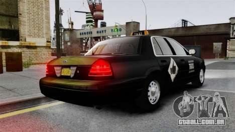 Ford Crown Victoria Cab para GTA 4 traseira esquerda vista