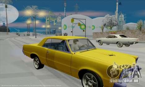 Pontiac GTO 1965 para GTA San Andreas vista interior