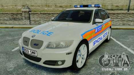 BMW 330i Touring Metropolitan Police [ELS] para GTA 4
