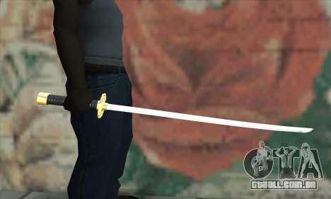 New Katana para GTA San Andreas terceira tela