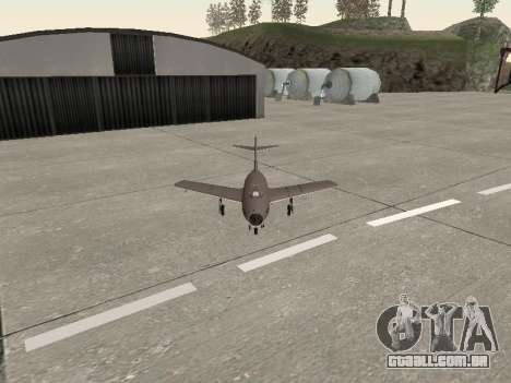 MiG 15 Bis para GTA San Andreas vista traseira