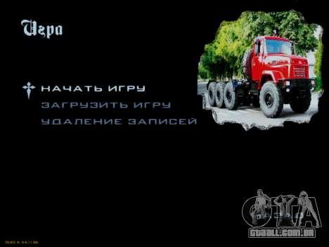 Arranque telas Soviética Caminhões para GTA San Andreas sétima tela