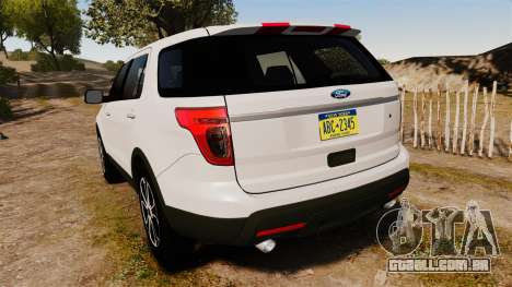 Ford Explorer Sport 2014 para GTA 4 traseira esquerda vista
