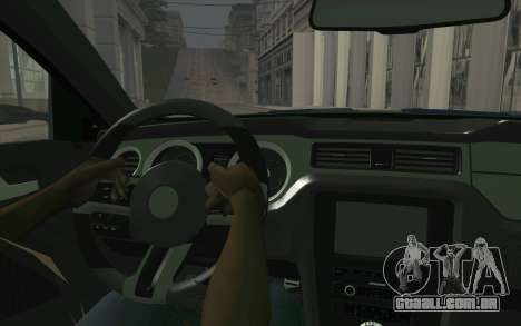 Ford Mustang 2013 - Need For Speed Movie Edition para GTA San Andreas vista traseira