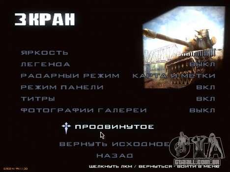 Menu de World of Tanks para GTA San Andreas quinto tela