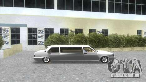 Serviço de limusina Tofaş para GTA Vice City vista traseira esquerda