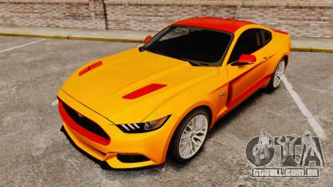 Ford Mustang GT 2015 v2.0 para GTA 4 vista inferior