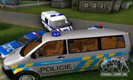 Volkswagen Transporter Policie para GTA San Andreas vista traseira