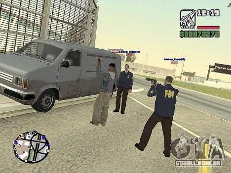 SA-MP 0.3z para GTA San Andreas nono tela