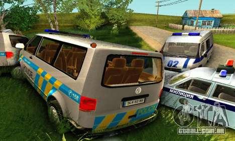 Volkswagen Transporter Policie para GTA San Andreas vista inferior