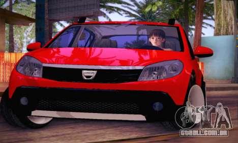 Dacia Sandero para vista lateral GTA San Andreas