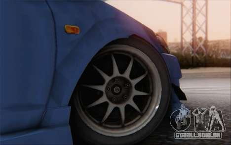 Honda Integra para GTA San Andreas traseira esquerda vista