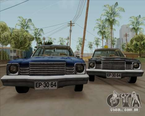 Dodge Aspen para GTA San Andreas vista direita