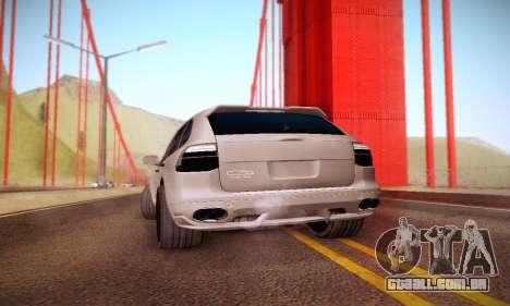 Porsche Cayenne para GTA San Andreas vista traseira