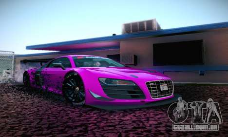 Audi R8 LMS Ultra v1.0.0 para GTA San Andreas esquerda vista