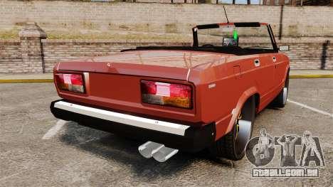 VAZ-2107 Donk Estilo para GTA 4 traseira esquerda vista