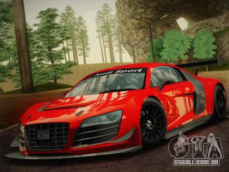 Audi R8 LMS Ultra W-Racing Team Vinyls para GTA San Andreas esquerda vista