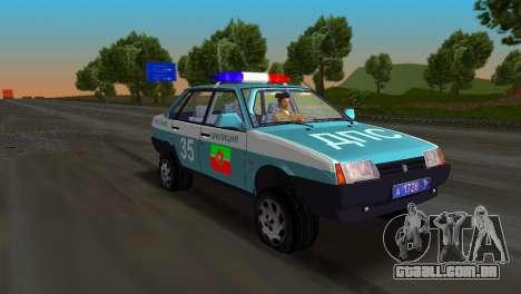 VAZ 21099 milícia para GTA Vice City