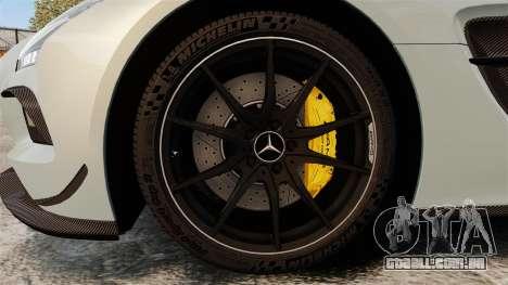 Mercedes-Benz SLS 2014 AMG Black Series para GTA 4 vista de volta