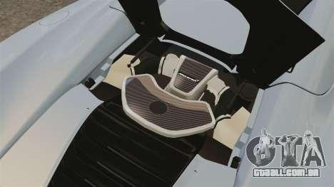 McLaren MP4-12C Spider 2013 para GTA 4 vista de volta