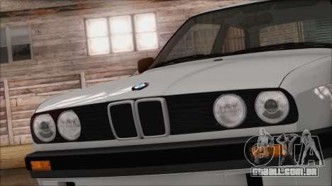 BMW M5 E30 para GTA San Andreas vista traseira