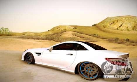 Mercedes Benz SLK55 AMG 2011 para GTA San Andreas traseira esquerda vista