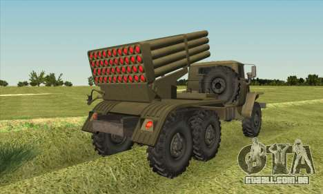 Ural 375 BM-21 para GTA San Andreas esquerda vista