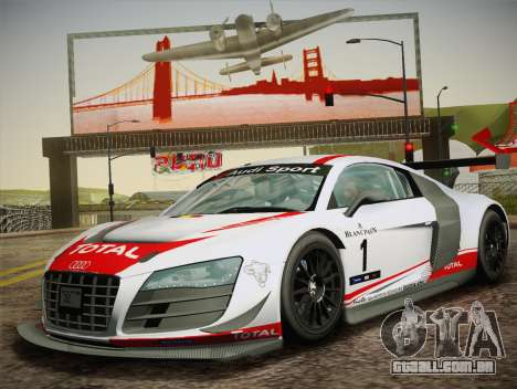Audi R8 LMS Ultra W-Racing Team Vinyls para GTA San Andreas vista interior