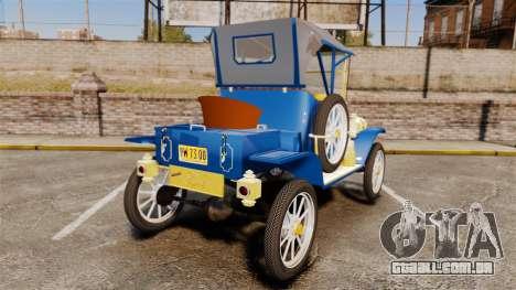 Ford Model T 1912 para GTA 4 traseira esquerda vista