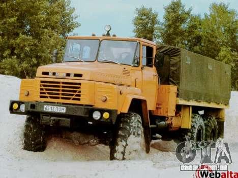 Arranque telas Soviética Caminhões para GTA San Andreas quinto tela