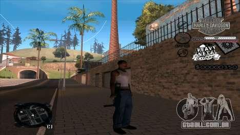 C-Hud Heavy Metal para GTA San Andreas segunda tela
