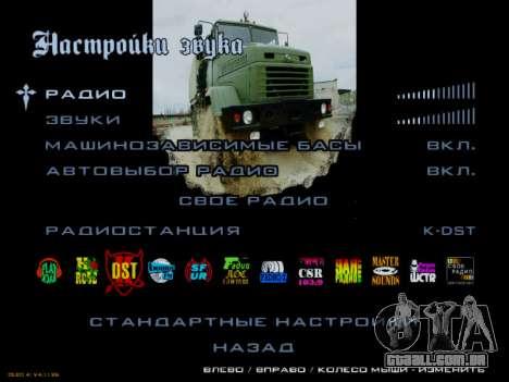 Arranque telas Soviética Caminhões para GTA San Andreas décimo tela