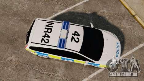 Ford Focus Estate Essex Police [ELS] para GTA 4 vista direita