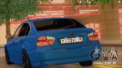 BMW 330i para GTA San Andreas vista traseira