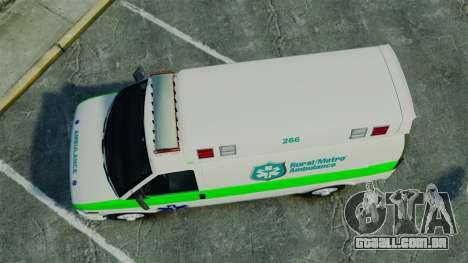 Vapid Speedo Rural Metro EMS [ELS] para GTA 4 vista direita