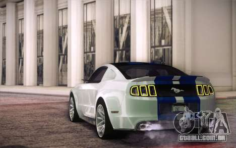 Ford Mustang 2013 - Need For Speed Movie Edition para GTA San Andreas traseira esquerda vista