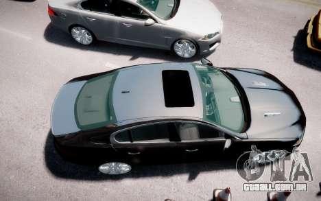 Jaguar XF-R 2012 v1.2 para GTA 4 vista de volta