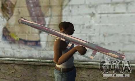 Lançador de foguetes para GTA San Andreas terceira tela