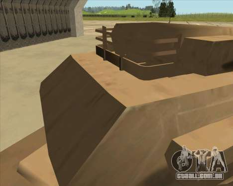 Rhino Mark.VI para GTA San Andreas vista traseira