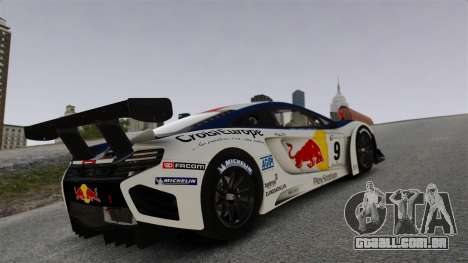 McLaren MP4-12C GT3 para GTA 4 vista superior