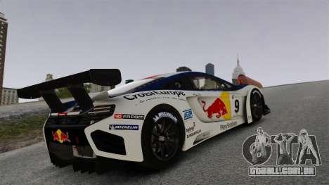 McLaren MP4-12C GT3 para GTA 4 vista superior