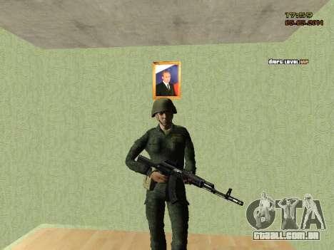O exército russo moderno para GTA San Andreas por diante tela