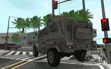 MRAP Mèxico Marinha para GTA San Andreas vista direita