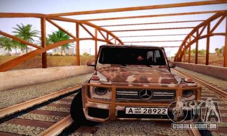 Mercedes Benz G65 Army Style para GTA San Andreas vista superior