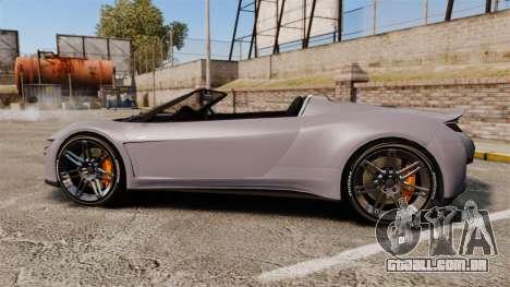 GTA V Dinka Jester Rodster para GTA 4 esquerda vista