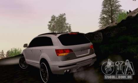Audi Q7 para GTA San Andreas vista traseira