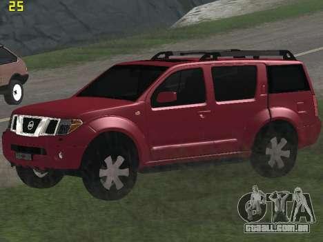 Nissan Pathfinder para GTA San Andreas vista interior