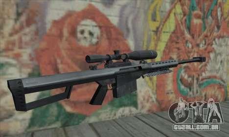 M82A1 Barret .50cal para GTA San Andreas segunda tela