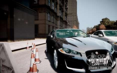Jaguar XF-R 2012 v1.2 para GTA 4 vista direita