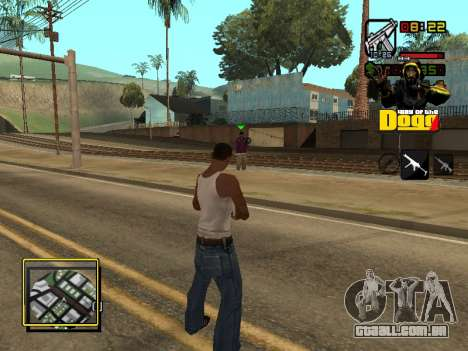C-HUD Snoop Dogg para GTA San Andreas por diante tela